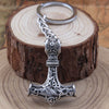 Viking Keychain Pendant Thor's Hammer Mjolnir!  Keep Your Keys Handy! - Viking Jewelry Life