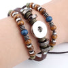 Vintage Snap Bracelets Beads & Leather 18/20MM Snaps Button Jewelry