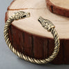 Viking/Norse Dragon Silver-Tone or Gold-Tone Size Adjustable Bracelet Men/ Unisex