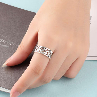 Viking/Norse Solid 925 Sterling Silver Ring 6-8 Vine Wave Vintage Women Unisex
