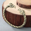 Viking/Norse Dragon Bracelet Choice of Stainless Steel Silver or Gold-Tone Can Adjust to Fit Unisex