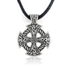 "Viking Shield Silver-Plated Zinc Pendant 20"" Necklace Unisex"