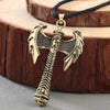 "Viking Battle Tool Gold or Silver Pendant on  18"" Leather Cord"