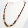 "Viking/Norse  Multicolor Morganite Natural Gem Bead Necklace 17"" Women"