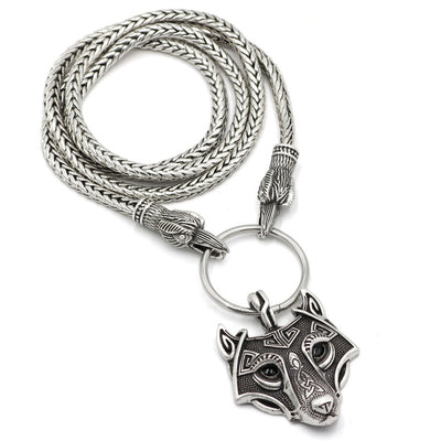 Viking Necklaces 18 Choices Silver Zinc Mjolnir Ax Wolf w/ Ravens Leather or Chain