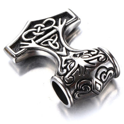 Norse Thor's Hammer Pendant Stainless Steel Silver or Gold 35 or 45 mm Unisex
