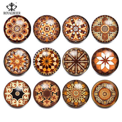 Vintage Shield Snap Buttons 12-Set Browns or Blacks 18 mm Snap Button Jewelry Unisex