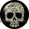 Floral Skull Snap Buttons Cream Choice 12/18/20 mm Alloy & Glass Unisex