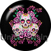 Skulls & Roses Snap Buttons Choice 12/18/20 mm Alloy & Glass