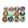 Viking Skull Snap 10 Buttons Alloy Artistic Choice 12/18 or 20 mm Snap Jewelry Unisex