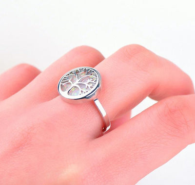 Yggrasil World Tree Silver 925 Sterling Silver Filled Ring Sz 6 -10 Unisex