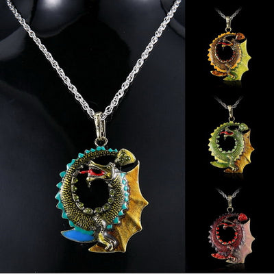 "Jormungandr Norse Mythology Choice of 4 Colors Zinc  18"" Necklace Unisex"