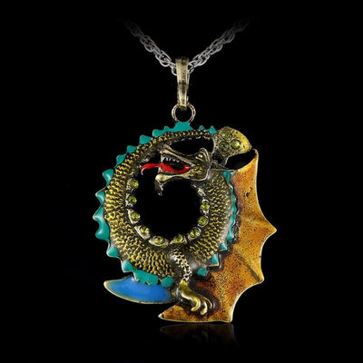 "Jormungandr Norse Mythology Choice of 3 Colors Zinc  18"" Necklace Unisex"