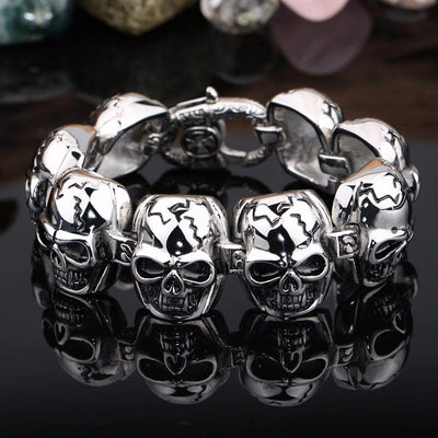 Norse Skulls Quality Stainless Steel Bracelet Unique Gothic Rock Unisex