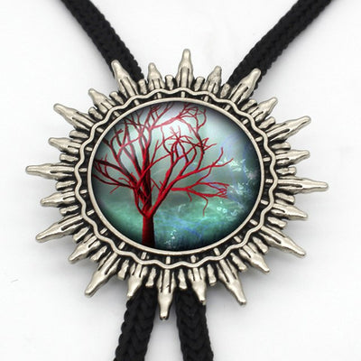 Viking/ Norse Tree of Life Hand Crafted Bolo Tie Necklace Of Zinc Choice of 16 Designs for Men Women