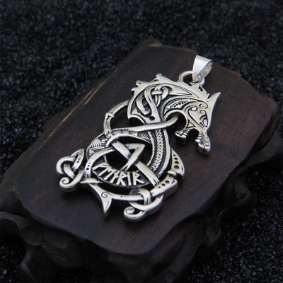 Norse Viking Real 925 Sterling Silver Dragon Pendant Unisex 2 Sizes