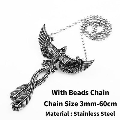 "Odin's Eagle Silver Stainless Steel Pendant Only Or 4 Choices 23"" Necklace Unisex"