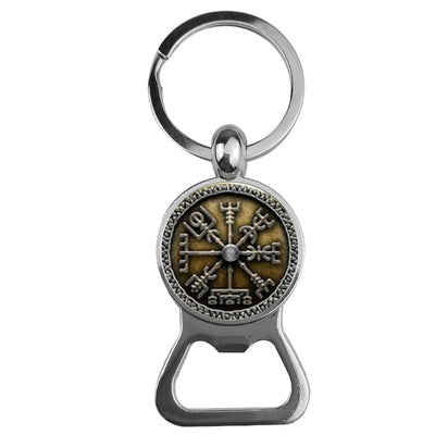 Viking Symbol Bottle Opener Key Chain Silver Zinc 9 Designs