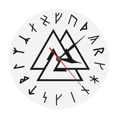 Viking Home Decor Valknut Symbol Norse Runes Wall Clock Home Decor