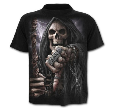 Skulls 17 Designs Cotton & Polyester T-Shirts 17 Size M-4X Unisex T-Shirts