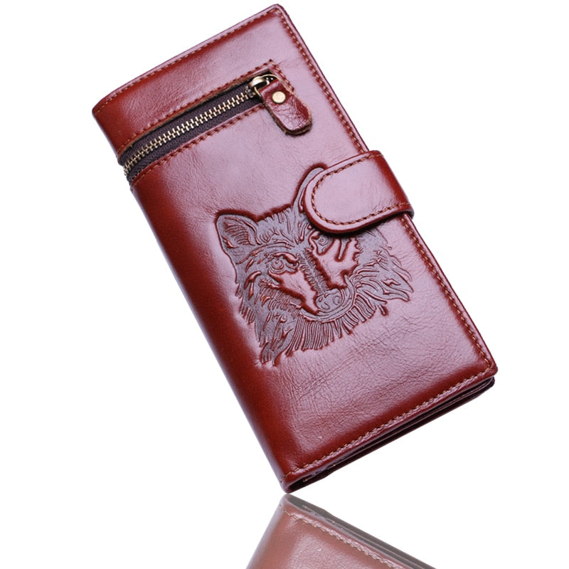 e3dc20ab7cf6 Wolf Wallet Genuine Leather Card & Coin Holder Wallet Unisex ...