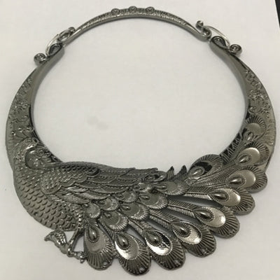 Retro Peacock Copenhagen 4 Colors Zinc Alloy Collar Necklace