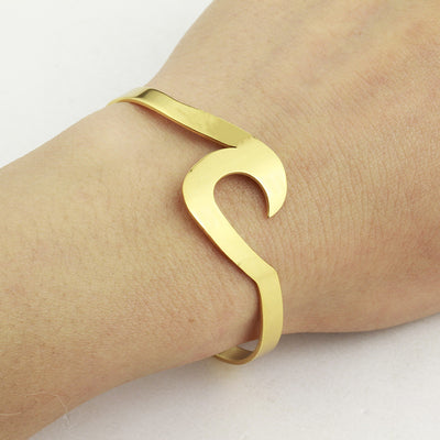 Wave/ Ocean Cuff Bracelet Or Ring Gold Or Silver Adjustable