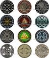 A+ Viking Norse Snap Buttons 10 Pack  Sizes 12mm, 18mm & 20mm Snap Button