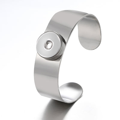 Popular 316 Stainless Steel Snap Button Cuff Bracelet 18mm/20mm Snap Buttons
