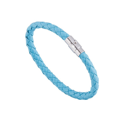 Braided Leather Bracelet 15 Colors Magnetic  Closure Unisex