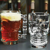 "Skull Mug Clear Glass 4.9"" Holds 16.9 oz Home Decor"