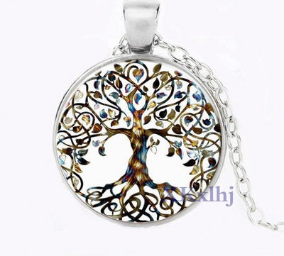 "Yggdrasil World Tree 6 Designs Bronze Black or Silver Zinc 20"" Necklace"