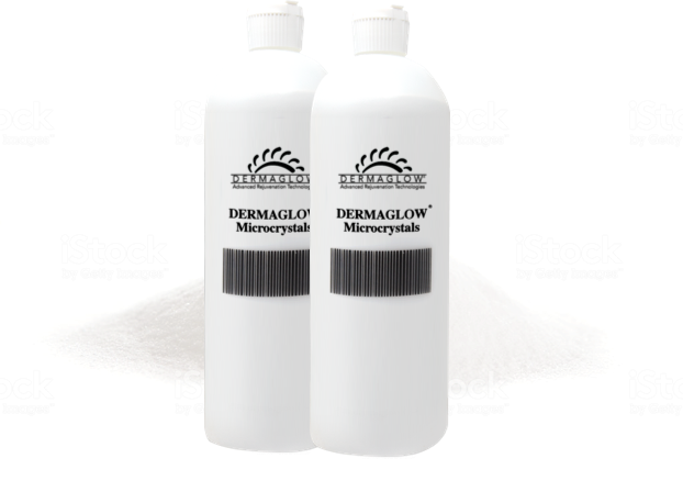 Dermaglow Microdermabrasion Crystals [Two Bottles (8 lb)]