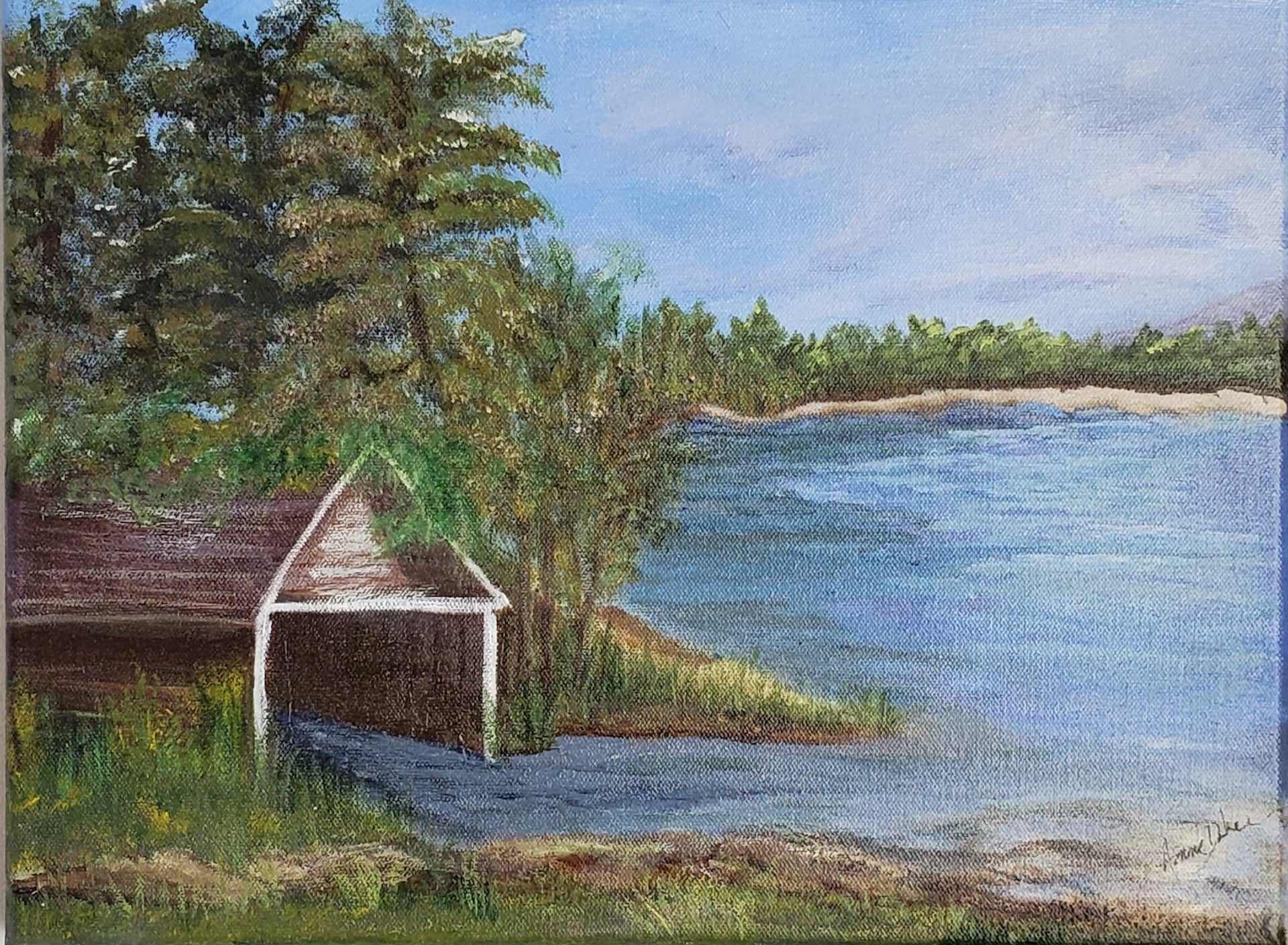 Boathouse  on Lake Leelanau, MI