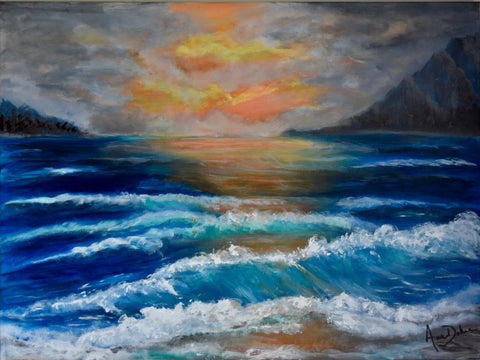 """Sunset Waves"""