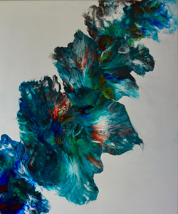 Spectacular Abstract in Blues and Teal