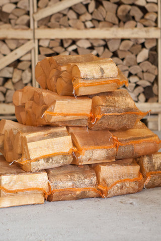 10 Nets Kiln Dried Hardwood Logs - Birch