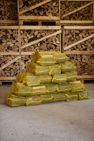 20 Nets Kiln Dried Hardwood Logs - Oak