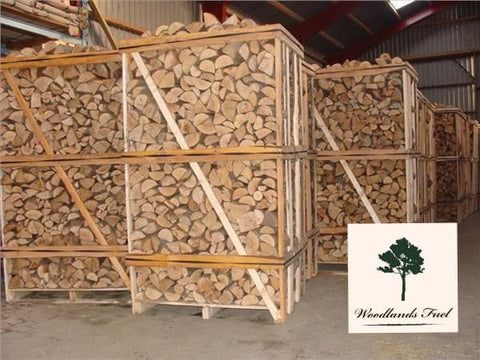 2m3 Kiln Dried Firewood Birch Logs Hardwood Full Crate