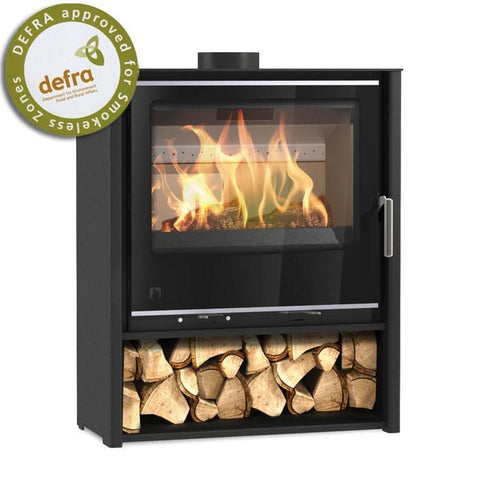 Arada i600 Slimline Freestanding Mid Multi Fuel / Woodburning Stove - Stoves World Ltd
