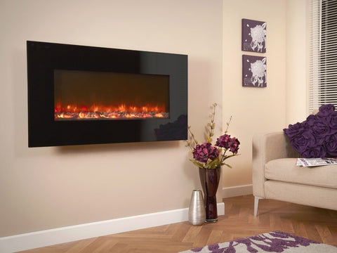 Celsi Electriflame XD Black Glass 1100 Electric Fire - Stoves World Ltd