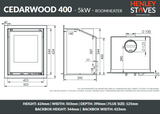 Henley Cedarwood 400 5kW - Stoves World Ltd