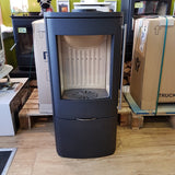 Jydepejsen SENZA BLACK - with Sideglass - Stoves World Ltd
