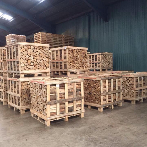 1m3 Cubic Meter Kiln Dried Firewood Birch Logs Hardwood Half Crate