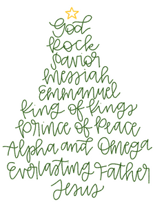 Jesus and the Christmas Tree Print
