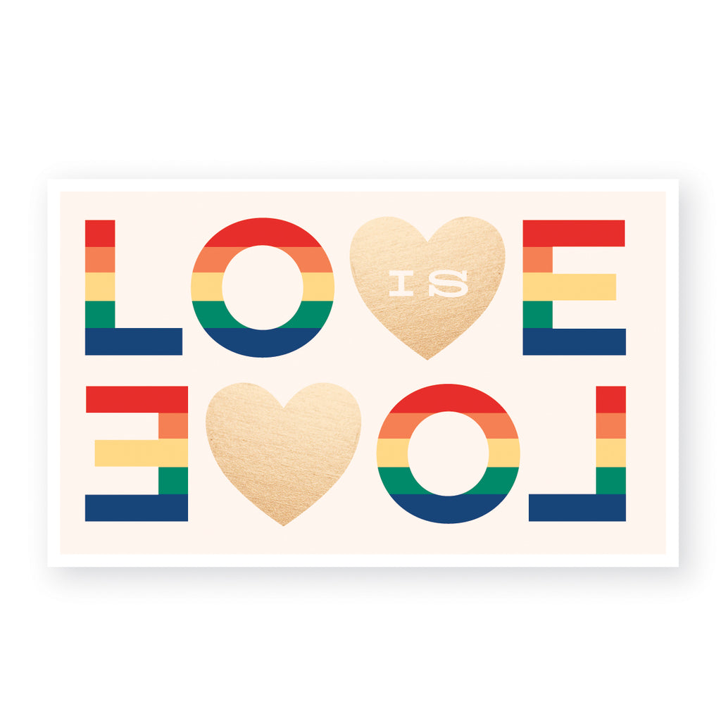 Love is Love LGBTQ support sticker