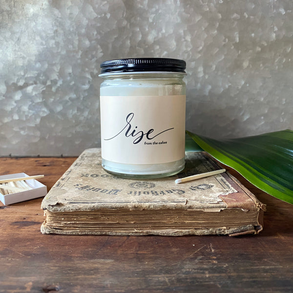 rise from the ashes teakwood candle