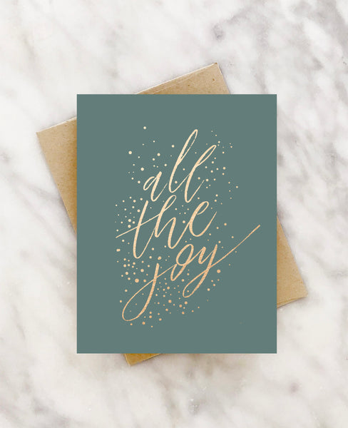 all the joy gold foil christmas card