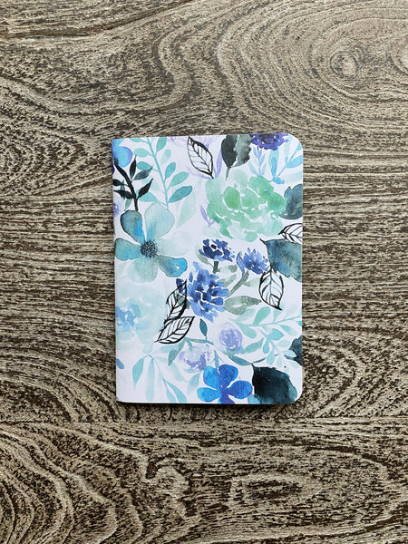 watercolor floral pocket journal