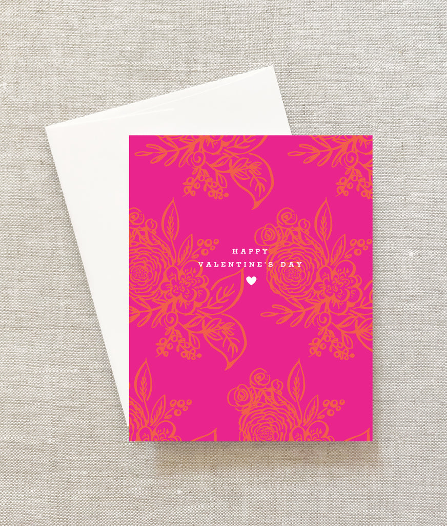 bright floral valentine's day card